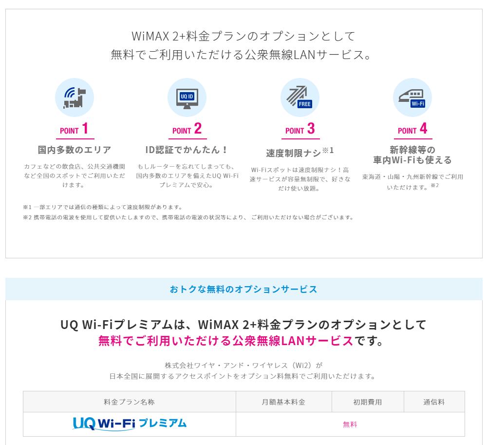 UQ WiFiプレミアム