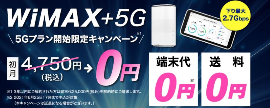 カシモWiMAX+5G