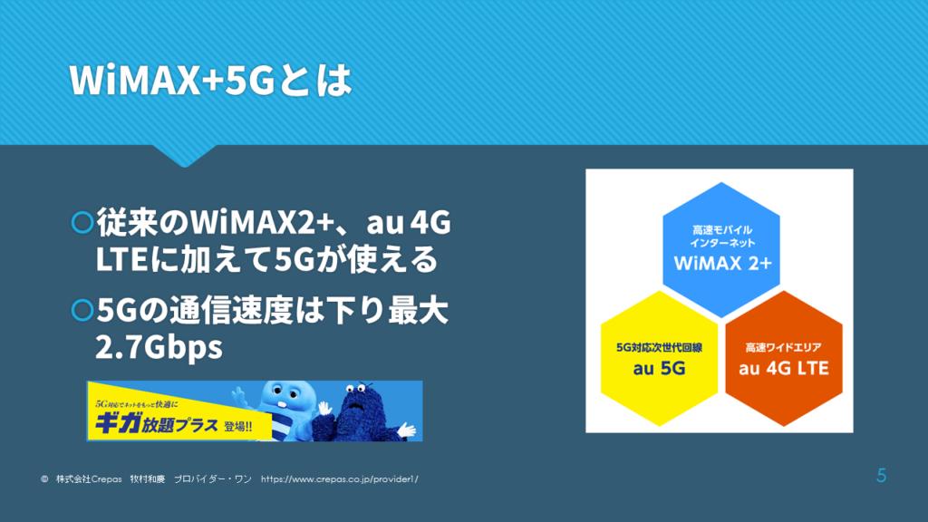 WiMAX+5Gとは