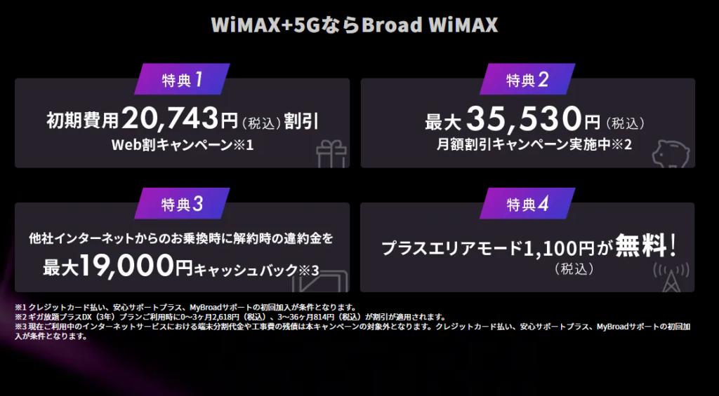 Broad \WiMAX+5G 新料金2021年10月~